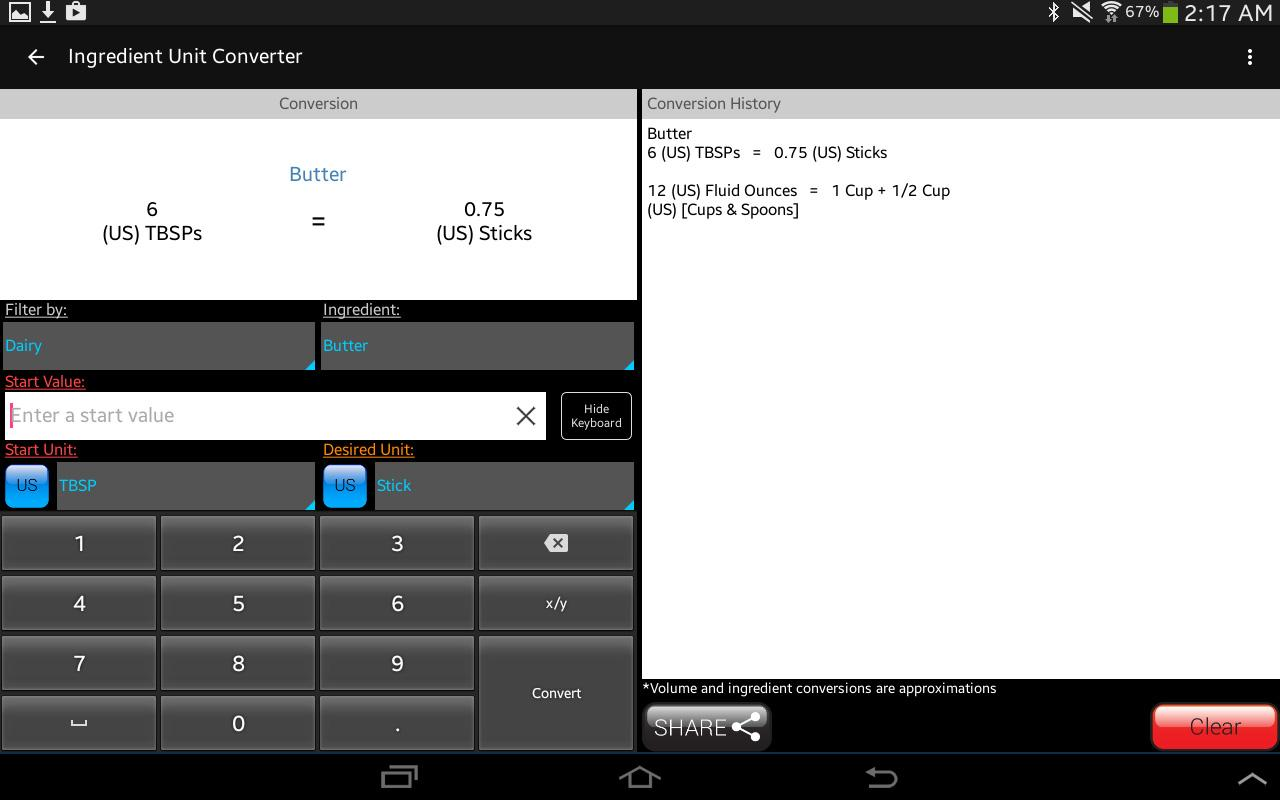 Kitchen Calculator (Converter) Screenshot 10