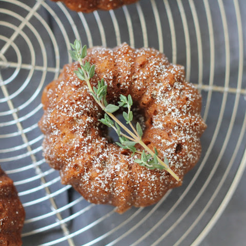 Orange Cardamom Mini Bundt Cakes