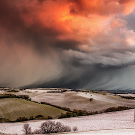 The Storm on the Hills by Emanuele Zallocco - Landscapes Cloud Formations