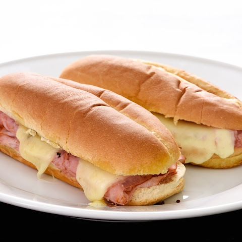 Hot Ham and Cheese Butter Dijon Skillet Sandwiches Recipe | Yummly