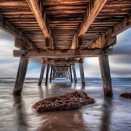 Walk on Water by Shannon Rogers - Landscapes Waterscapes ( south australia, australia, jetty pier, shannon roger, largs bay )