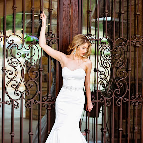 Bellissimo by Sabrina Causey - Wedding Bride ( doors, wood, iron and wood, dress, wedding, wedding dress, lovely, gown, bride, iron )