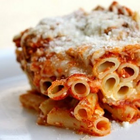 Baked Rigatoni with Meat Sauce