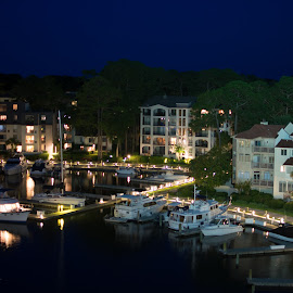 Harbour Town View Right by Mike Rushing - Buildings & Architecture Public & Historical ( harbour town, hilton head, lighthouse )