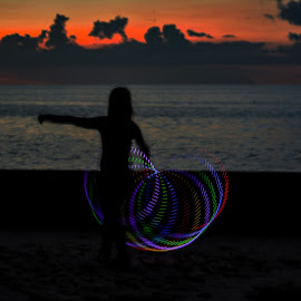 Flashing by Don Kuhnle - Abstract Light Painting ( hoola hoop, light, colors )