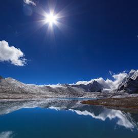Perfect Landscape by Soumik Datta - Landscapes Mountains & Hills ( hills, mountain, sunstar, landscape, sikkim )