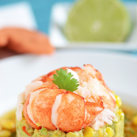 Lobster, Avocado, and Chickpea Salad with Lime Cilantro Vinaigrette