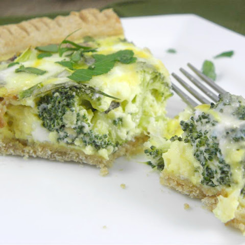 Bacon Cheddar Broccoli Quiche