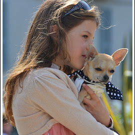 Affection by Andrea Macherelli Bianchini - People Street & Candids ( love, child, girl, family, dog, portrait )