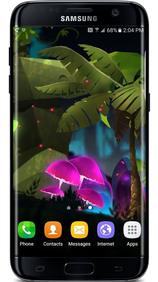 Mushroom Firefly Jungle LWP Screenshot 1