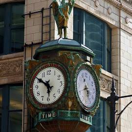 Chicago Clock by Michiale Schneider - Artistic Objects Other Objects ( timepiece, time, clock, chicago )