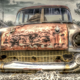 57 Chevy by DB Channer - Transportation Automobiles