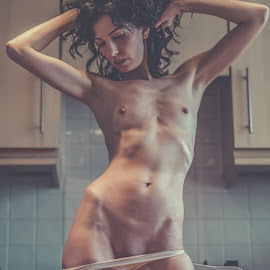 Kitchen Maid by John Shaw - Nudes & Boudoir Artistic Nude ( erotic, thong, nude, kitchen )