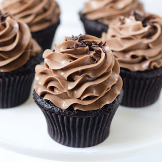 One Bowl Chocolate Cupcakes with Nutella Swiss Buttercream Frosting