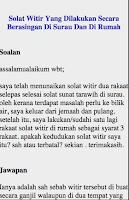 Screenshot of Cara Solat Terawih Dan Witir