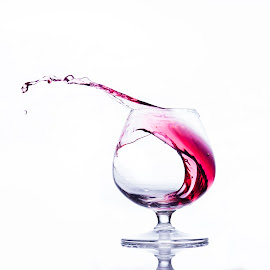 Creative way of life by Alpha Studio - Food & Drink Alcohol & Drinks ( red, creative, splash, white background )