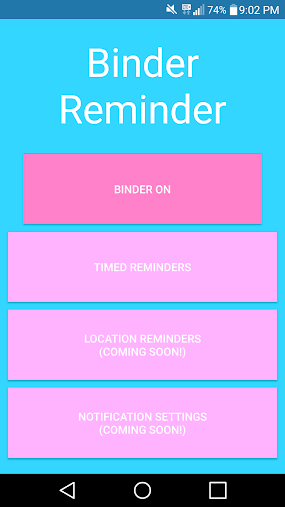 Binder Reminder APK