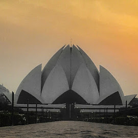 Sunset & Lotus Temple by Anurag Saxena - Instagram & Mobile Other ( lotus temple )