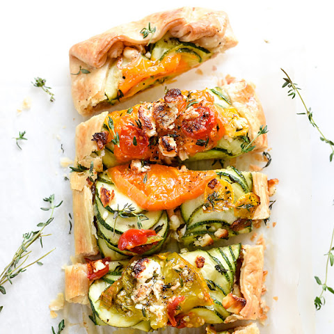 Heirloom Tomato, Zucchini, Caramelized Onion and Feta Galette