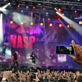 WASP by Roar Randeberg - People Musicians & Entertainers ( concert, musicians, phone, image, highlight, crowd, people,  )