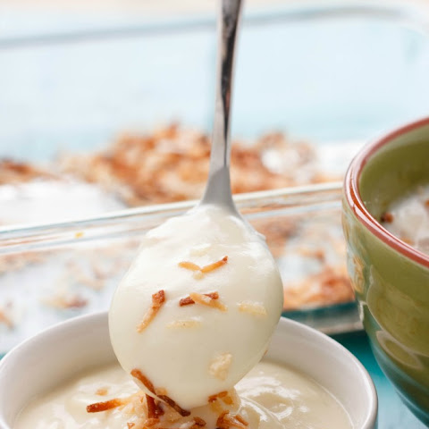 Homemade Toasted Coconut Pudding