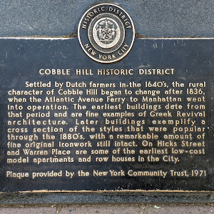 Settled by Dutch farmers in the 1640's, the rural character of Cobble Hill began to change after 1836, when the Atlantic Avenue Ferry to Manhattan went into operation. The earliest buildings date ...