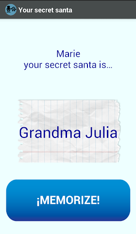 android Secret Santa App Screenshot 3