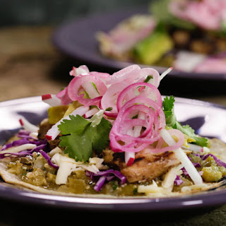Grilled Chicken Tacos with Smoky Salsa Verde