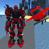 X Ray Flying Car Robot 3D APK for Bluestacks