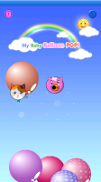 Screenshot of My baby game (Balloon pop!)