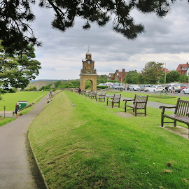 take a seat and take your time  by Eloise Rawling - Buildings & Architecture Architectural Detail ( footpath, leading lines, clock tower, seats, monument )