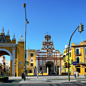 Puerta and Basílica de la Macarena, Seville, Spain by Francis Xavier Camilleri - Buildings & Architecture Public & Historical