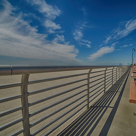 The Boardwalk  by Lorraine D.  Heaney - City,  Street & Park  Street Scenes