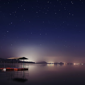 Colorful Night by XeeShan Ch - Landscapes Starscapes ( pakistan, night photography, stars, xeeshan, soon valley, long exposure, uchali lake )