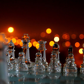 You Fight Alone 1 by Ritwick Srivastava - Artistic Objects Other Objects ( glass, chess, ritwick, artistic, crystal,  )
