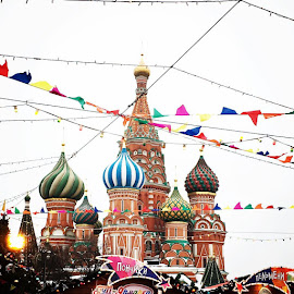 Colours of a Russian Winter  by Anita Louise - Buildings & Architecture Bridges & Suspended Structures