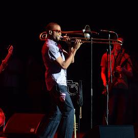 Trumbone Shorty by Richard RJ Johnson - People Musicians & Entertainers ( saratoga, music, trumbone, fstival, jazz, spotlight,  )