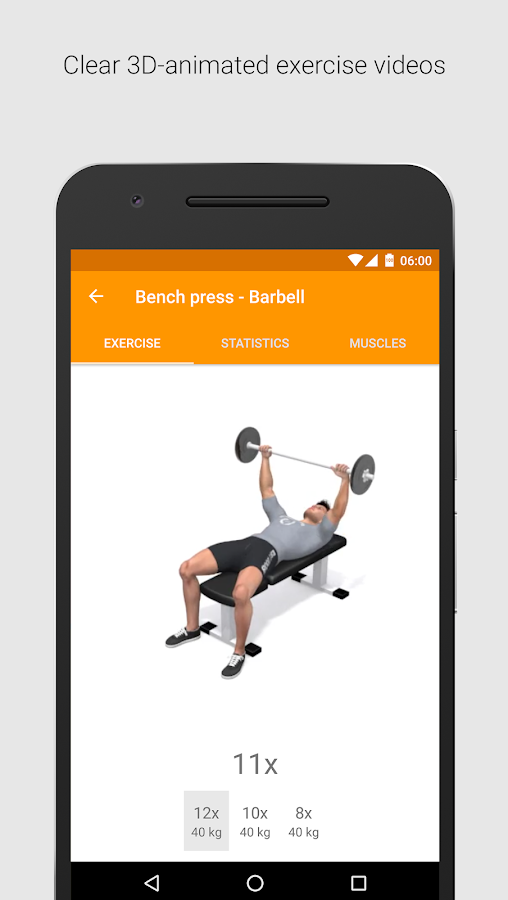 Virtuagym Fitness Tracker Home Gym Screenshot