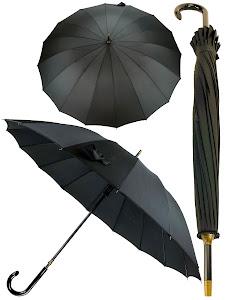 Зонт трость L, серый