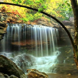 PINION FALLS by Dana Johnson - Landscapes Waterscapes ( waterscape, cascade, creek, falls, landscape )