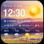 Free Clock & Weather Widget - Sunny APK for Windows 8