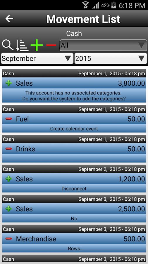 Daily Expenses 2 Screenshot 2