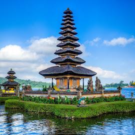 Danau Toba by Varok Saurfang - Buildings & Architecture Places of Worship ( clouds, water, temple, danau toba, lake )