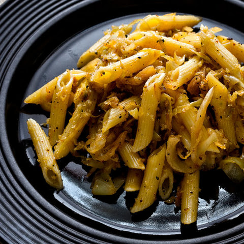 Pasta With Caramelized Cabbage, Anchovies and Bread Crumbs
