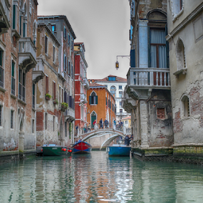 Venice by Nancy Merolle - Buildings & Architecture Office Buildings & Hotels ( water, europe, venice, bridge, italy, canal,  )