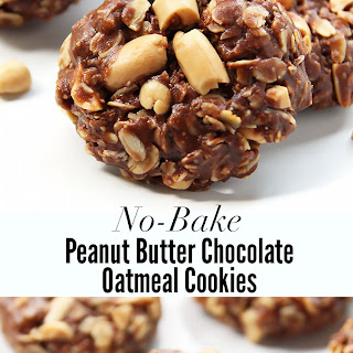 Chocolate Peanut Butter Cookies Old Fashioned Oats Recipes