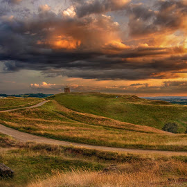 Burton Dasset by Ian Flear - Landscapes Prairies, Meadows & Fields ( relax, tranquil, relaxing, tranquility,  )