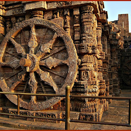 Konark Wheel by Prasanta Das - Buildings & Architecture Other Exteriors ( chariot shape, celebrated, konark wheel )