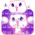 Cute Kitty Kawaii Shiny Keyboard Icon