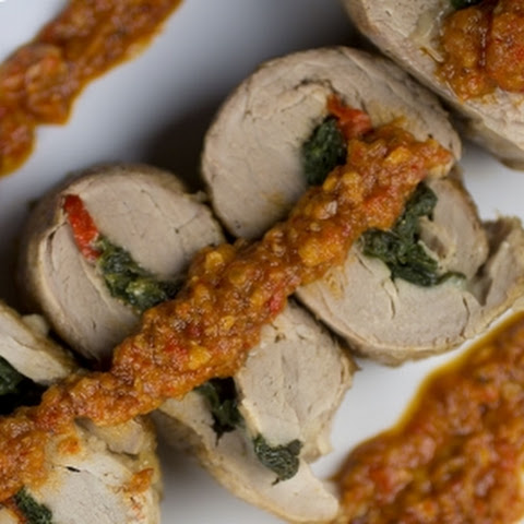 Pork Roulade with Romesco Sauce